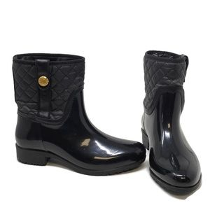 Tommy Hilfiger Quilted Short Rain Boots Black 8